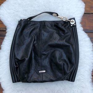 Rebecca Minkoff Black Leather Hobo Bag